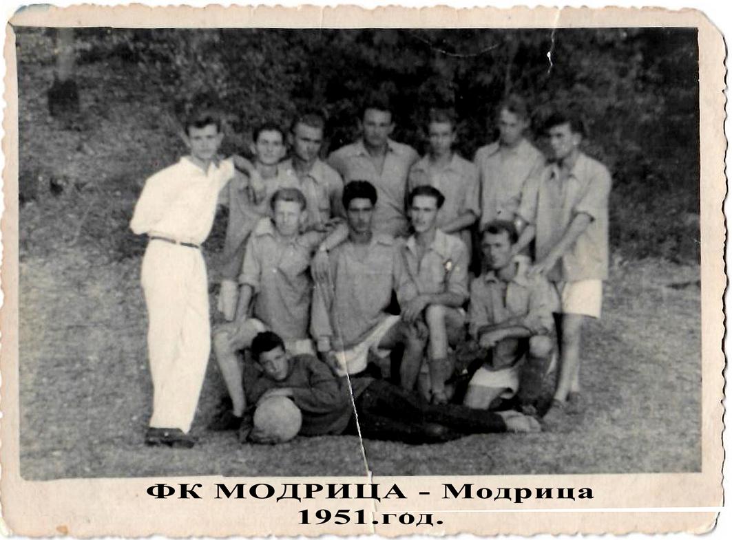 Osnivaci i prva ekipa Modrice
